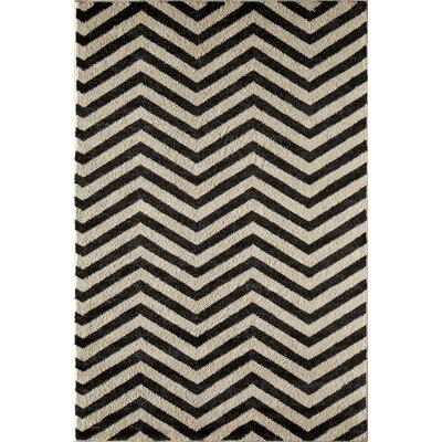 Black/Cream Area Rug Rug Size: 710 x 1010