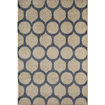 Tan/Black Area Rug Rug Size: Rectangle 53 x 710