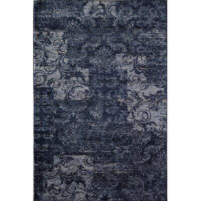 Blue/Black Area Rug Rug Size: Rectangle 53 x 710