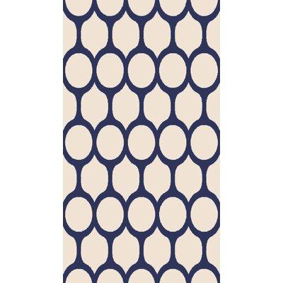 Beige/Blue Area Rug Rug Size: 710 x 1010