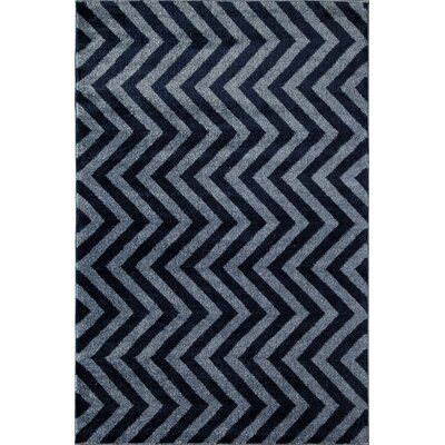 Navy Area Rug Rug Size: Rectangle 710 x 1010