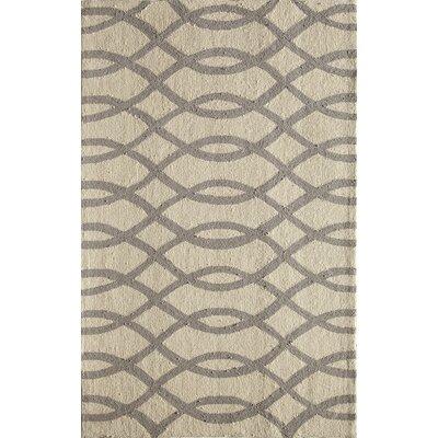 Hand-Woven Gray Area Rug Rug Size: 5 x 76