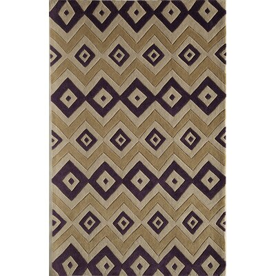 Hand-Woven Brown Area Rug Rug Size: 76 x 96