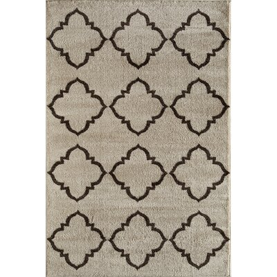 Beige Area Rug Rug Size: Rectangle 53 x 710