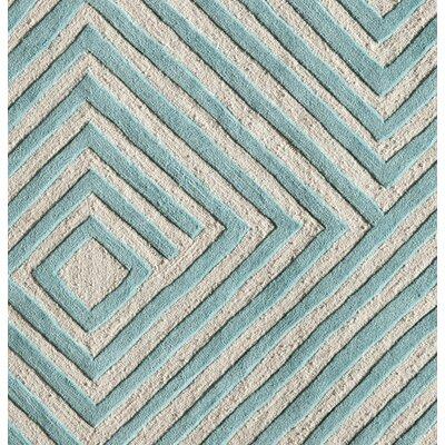 Hand-Woven Aqua Area Rug Rug Size: Runner 23 x 76