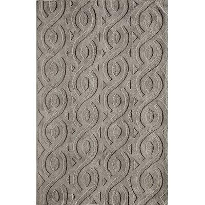 Hand-Woven Gray Area Rug Rug Size: 16 x 23