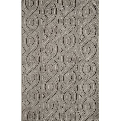 Hand-Woven Gray Area Rug Rug Size: Runner 23 x 76