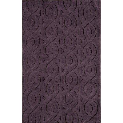 Hand-Woven Purple Area Rug Rug Size: 76 x 96