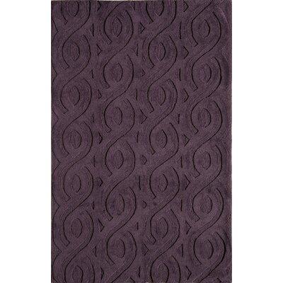 Hand-Woven Purple Area Rug Rug Size: 16 x 23