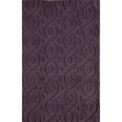 Hand-Woven Purple Area Rug Rug Size: Runner 23 x 76