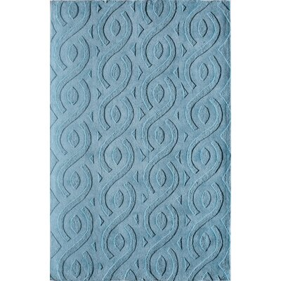 Hand-Woven Blue Area Rug Rug Size: 76 x 96