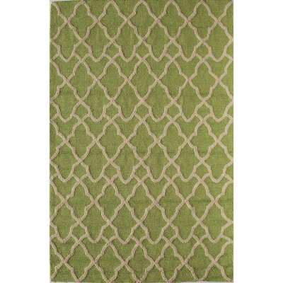 Light Green Indoor/Outdoor Area Rug Rug Size: 26 x 36