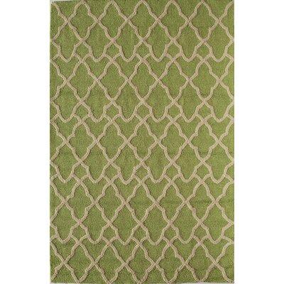Light Green Indoor/Outdoor Area Rug Rug Size: 5 x 76