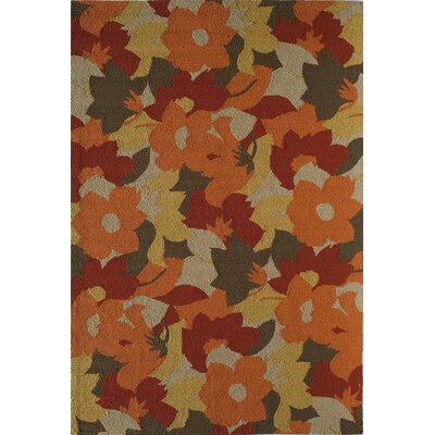 Rust/Brown Indoor/Outdoor Area Rug Rug Size: 26 x 36
