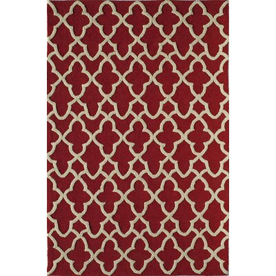 Red Indoor/Outdoor Area Rug Rug Size: 26 x 36
