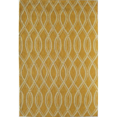 Yellow Indoor/Outdoor Area Rug Rug Size: 26 x 36