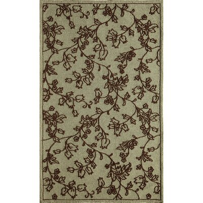 Ivory/Light Blue Indoor/Outdoor Area Rug Rug Size: 5 x 76