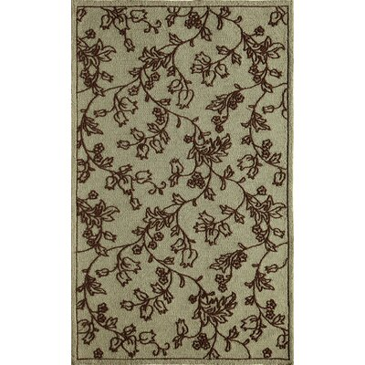 Ivory/Light Blue Indoor/Outdoor Area Rug Rug Size: 76 x 96
