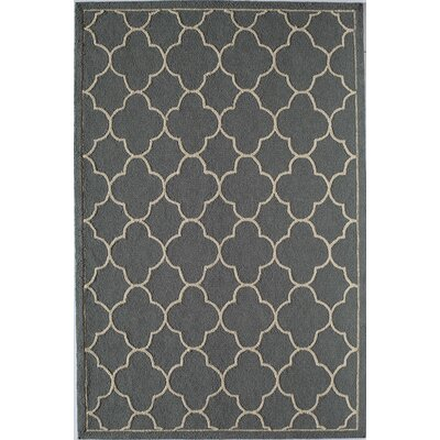 Gray Indoor/Outdoor Area Rug Rug Size: 26 x 36