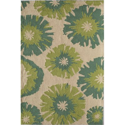 Light Green Indoor/Outdoor Area Rug Rug Size: 2'6