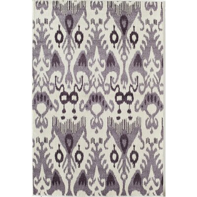Lilac/Beige Area Rug Rug Size: 53 x 710