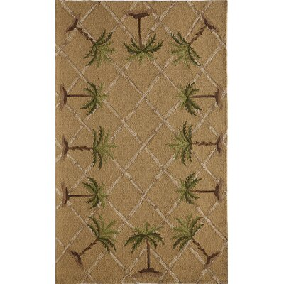 Tan/Brown Indoor/Outdoor Area Rug Rug Size: 26 x 36