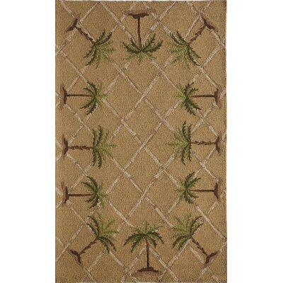 Tan/Brown Indoor/Outdoor Area Rug Rug Size: 76 x 96