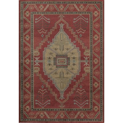 Red Area Rug Rug Size: 910 x 132
