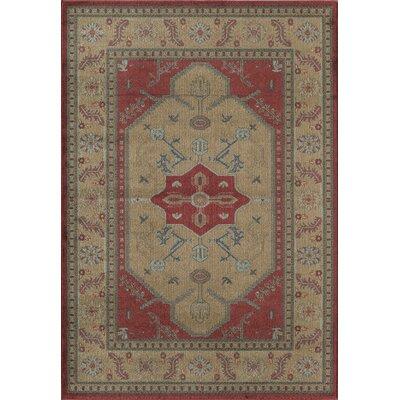 Beige/Red Area Rug Rug Size: 910 x 132