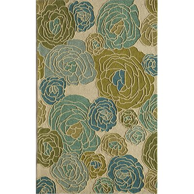 Light Blue/Green Indoor/Outdoor Area Rug Rug Size: 2'6