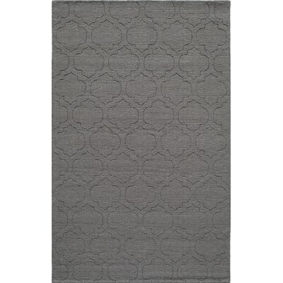 Hand-Hooked Gray Area Rug Rug Size: 5 x 8