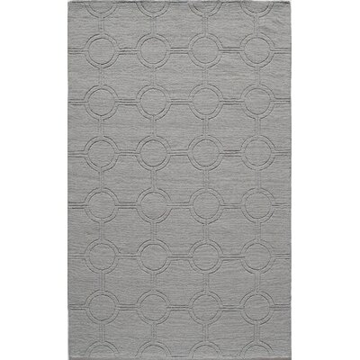 Hand-Hooked Light Blue Area Rug Rug Size: 8 x 10