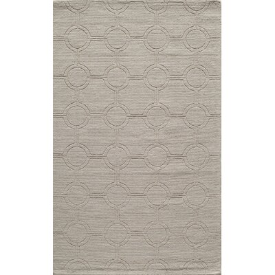 Hand-Hooked Ivory Area Rug Rug Size: 5 x 8
