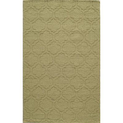 Hand-Hooked Green Area Rug Rug Size: 5 x 8