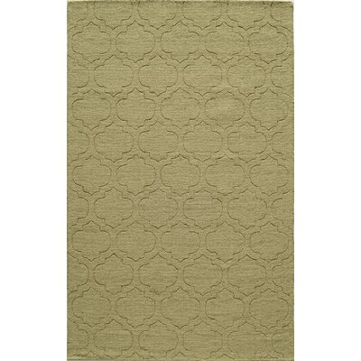 Hand-Hooked Green Area Rug Rug Size: 8 x 10