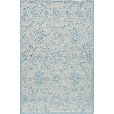 Hand-Tufted Blue/Mist Area Rug Rug Size: Rectangle 2 x 3