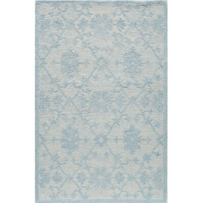 Hand-Tufted Blue/Mist Area Rug Rug Size: Rectangle 5 x 8