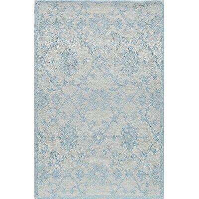 Hand-Tufted Blue/Mist Area Rug Rug Size: 5 x 8