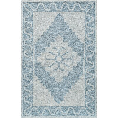 Hand-Tufted Blue Area Rug Rug Size: Rectangle 2 x 3