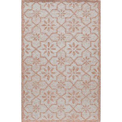 Hand-Tufted Ginger Area Rug Rug Size: 5 x 8