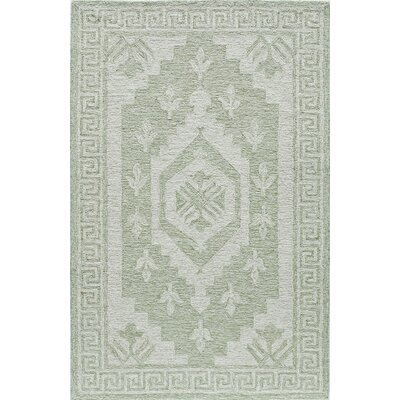 Hand-Tufted Winter Green Area Rug Rug Size: 5 x 8