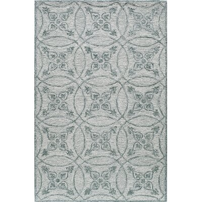 Hand-Tufted Isle/Green Area Rug Rug Size: Rectangle 5 x 8