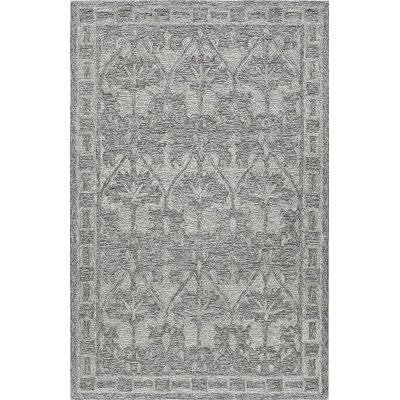 Hand-Tufted Smokey/Taupe Area Rug Rug Size: Rectangle 2 x 3