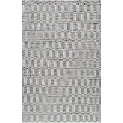 Hand-Woven Silver Area Rug Rug Size: 2 x 3