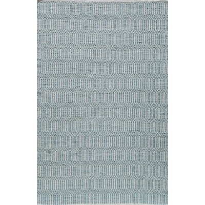 Hand-Woven Light Blue Area Rug Rug Size: Rectangle 5 x 8