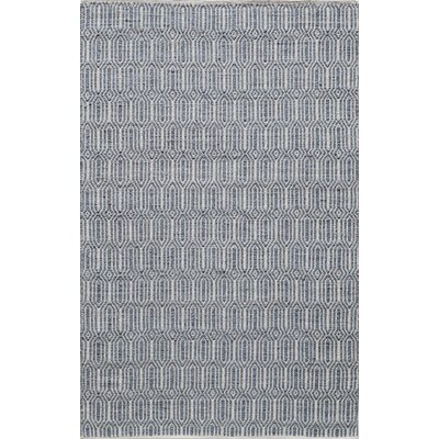Hand-Woven Navy Area Rug Rug Size: Rectangle 2 x 3