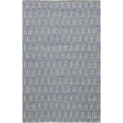 Hand-Woven Navy Area Rug Rug Size: Rectangle 5 x 8