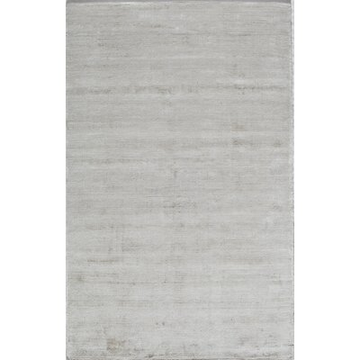 Hand-Tufted White Area Rug Rug Size: 5 x 8