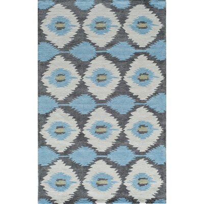 Hand-Tufted Blue/Gray Area Rug Rug Size: 5 x 8