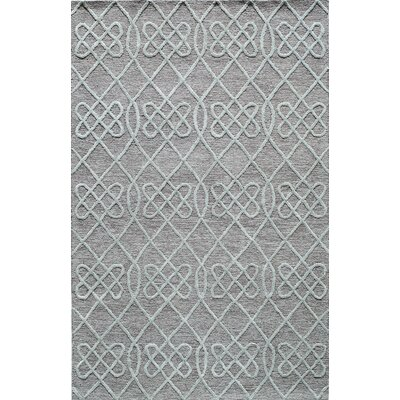 Hand-Tufted Gray/Mint Area Rug Rug Size: 5 x 8
